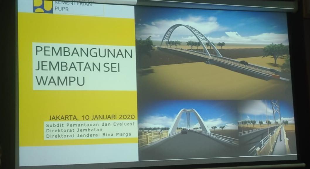 Jembatan Sei Wampu Langkat Mangkrak