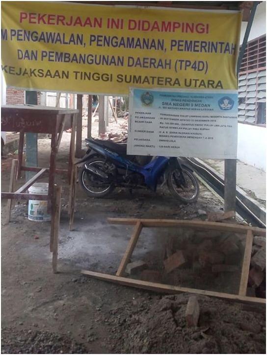 Pembangunan Toilet Dibawah Pengawasan TP4D, Diduga Pekerjaan Rp1,8 M Bermasalah