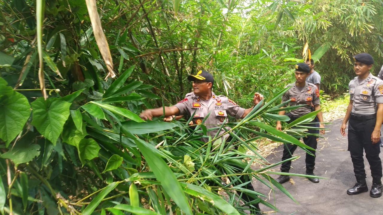 Polres Banjar, Lakukan Pembersihan dan Pemotongan Pohon yang Menghalangi Jalan