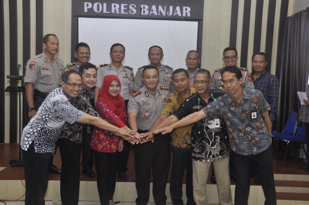 Kapolres Banjar, Penandatanganan MOU Sebagai Pengamanan Obvit Polres Banjar