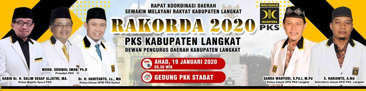 DPD PKS Langkat, Adakan Rapat Koordinasi Daerah