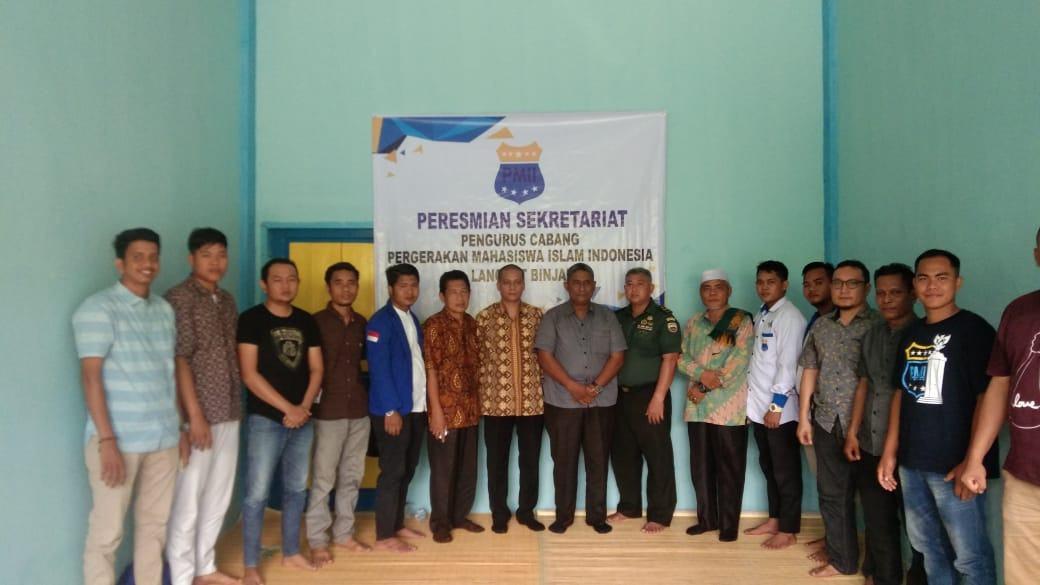 PC PMII Langkat-Binjai, Resmikan Sekretariat Baru
