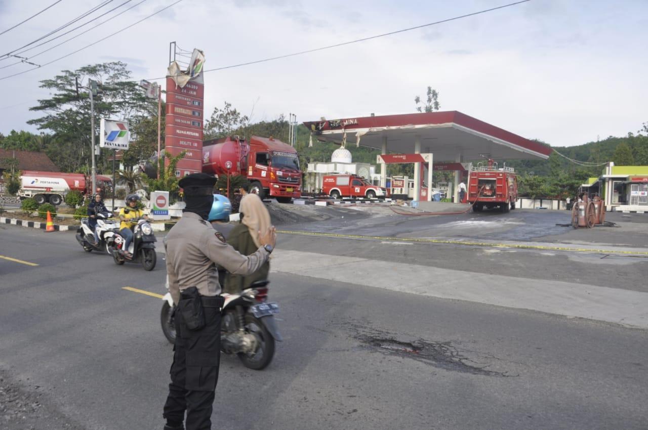 Mobil Tangki Pertamina di Banjar, Alami Kebakaran di SPBU