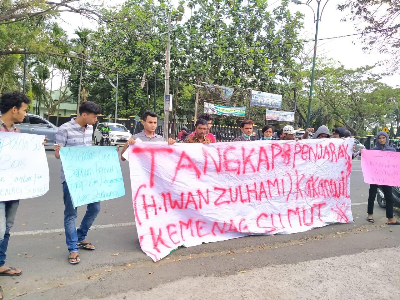 Aksi JMM, Dugaan Adanya Jual Beli Jabatan di Kemenag Sumut