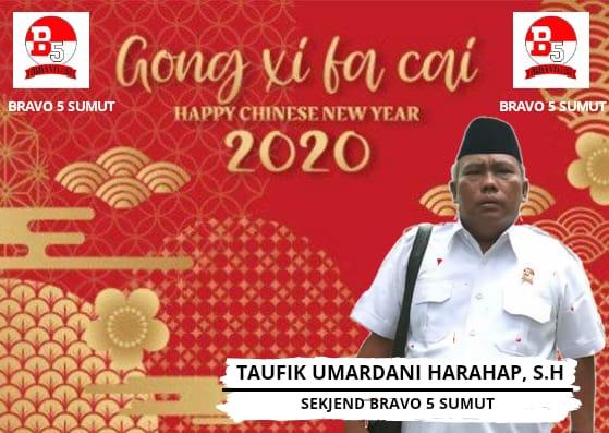 Bravo 5 Sumut, Ucapkan Selamat Tahun Baru Imlek