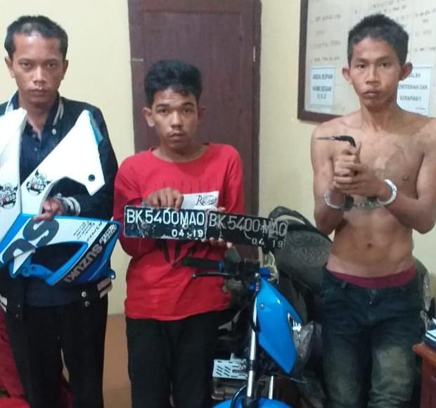 Curanmor di Deli Serdang, Polisi Berhasil Tangkap 3 Pelaku