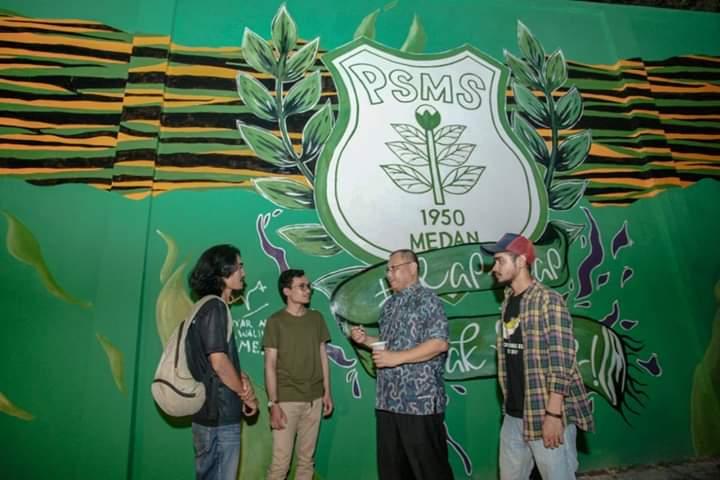 Plt Walikota Medan Apresiasi Seni Mural Komunitas Kampung Sendiri