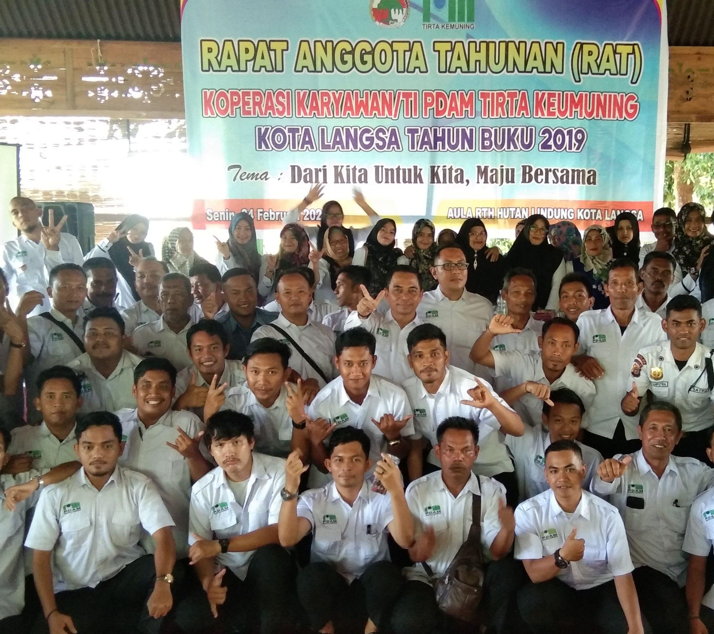Koperasi Karyawan PDAM Tirta Kemuning, Laksanakan Rapat di RTH Langsa