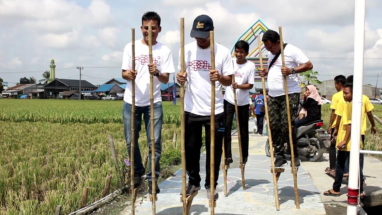 KPOTI Sumut, Giatkan Permainan Tradisional di Wisata Sawah
