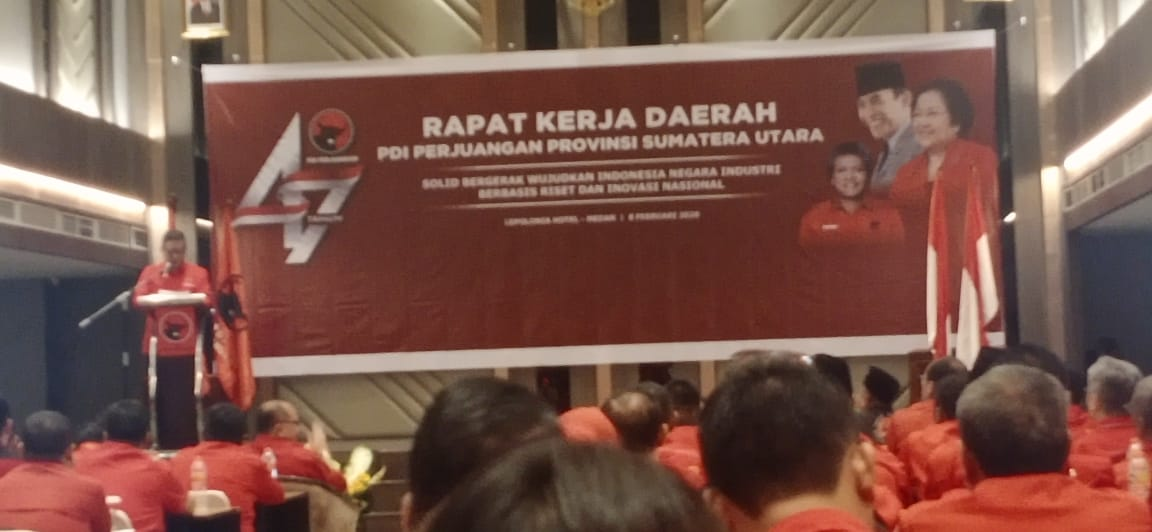 Rakerda PDIP Sumut, Jangan Berhenti Bergerak