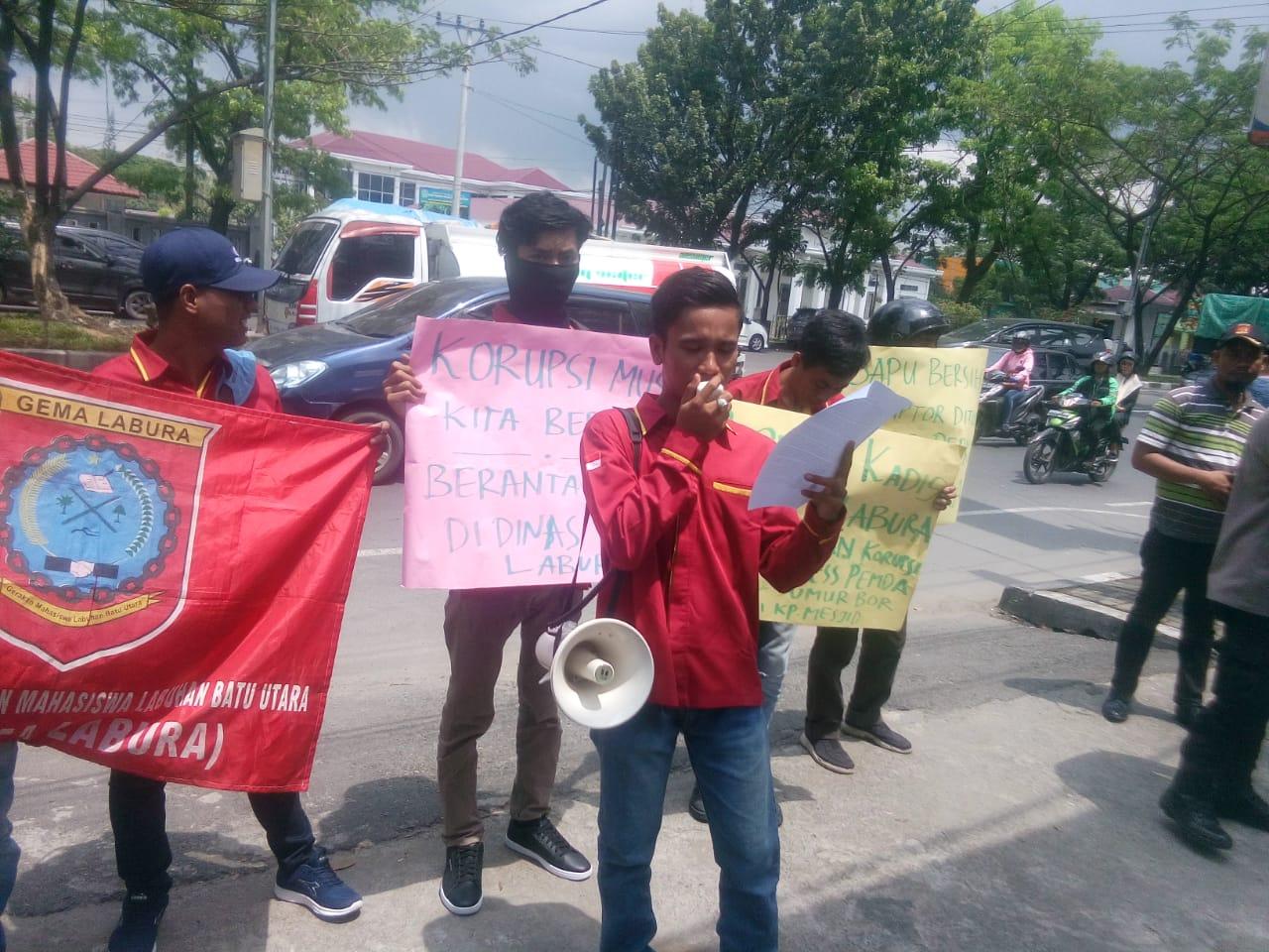 Gema Labura, Desak Kejatisu Usut Dugaan Korupsi & Mark-up Dinas Perkim