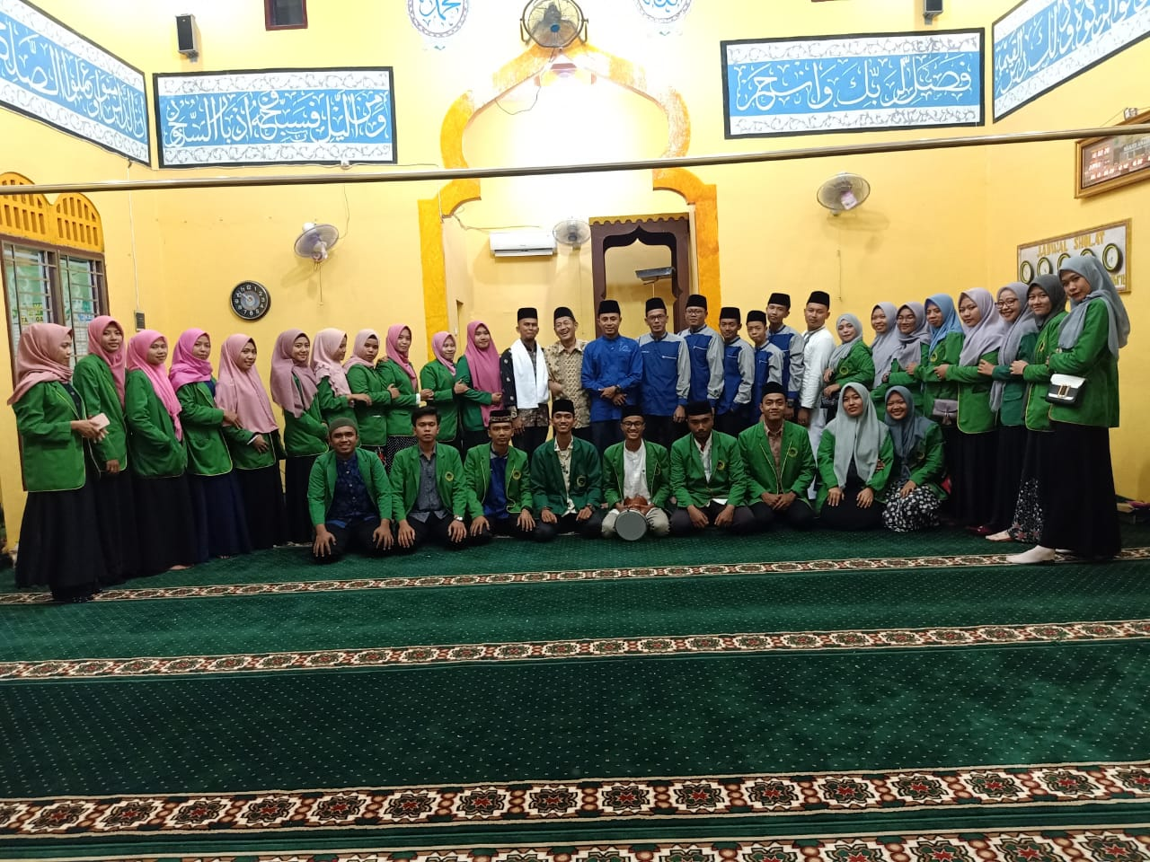 Wujudkan Langkat Religius, KKN STAI-JM Tanjung Pura Laksanakan Tabligh Akbar dan Haflah Quran