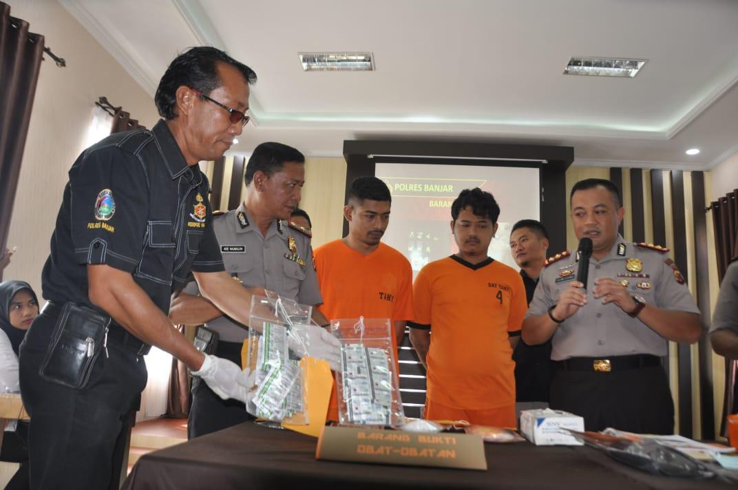 Polres Banjar, Tangkap Empat Pengedar Narkotika