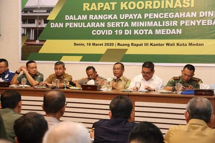 Kota Medan Ditetapkan Status Siaga Darurat Virus Corona