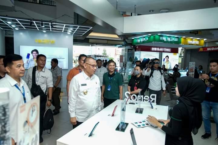 Akhyar Cek Ketersediaan Hand Sanitizer dan Alat Thermoscan di Plaza Millennium ICT Center
