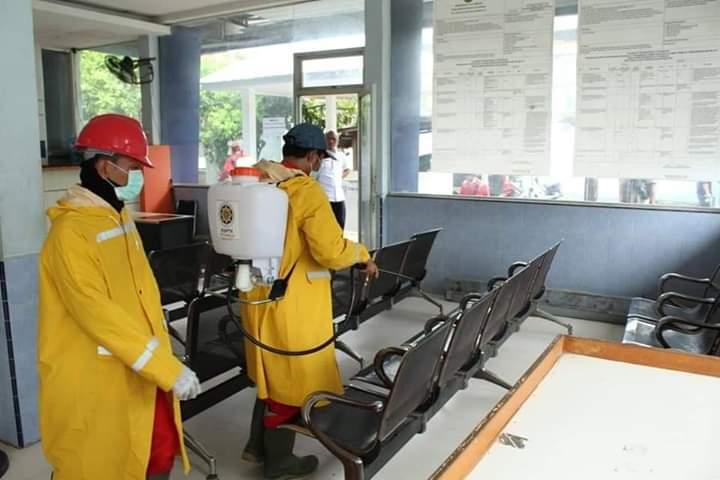 Polres Langsa, Lakukan Gotong Royong Cegah Virus Corona