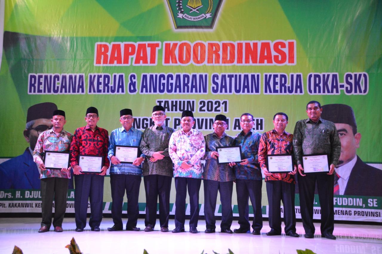 Kementerian Agama Aceh, Gelar Rapat Koordinasi