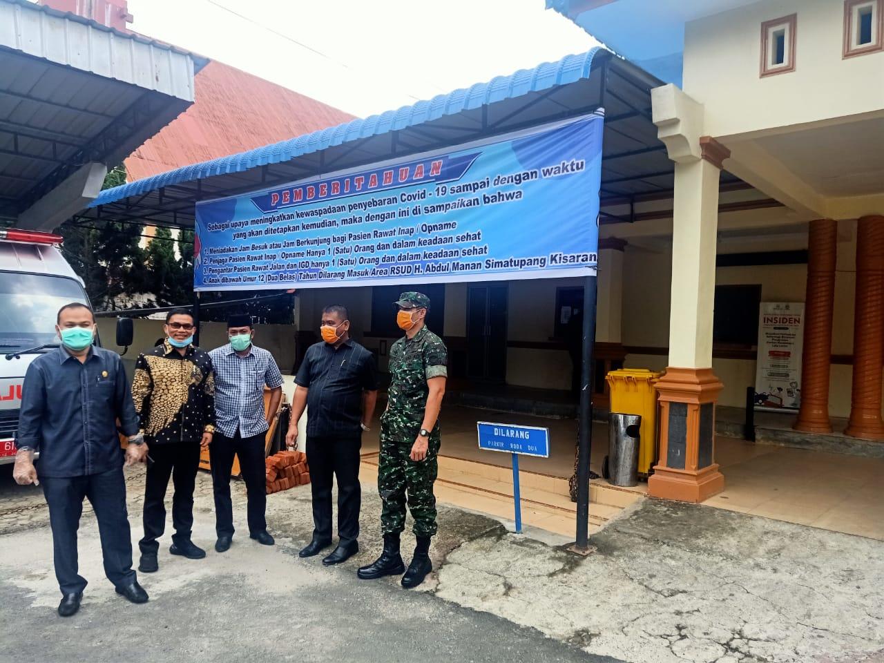 Anggota DPRD Sumut Santoso Sidak Kesiapan RSUD HAMS Kisaran Menghadapi Covid-19