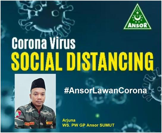 GP Ansor Sumatera Utara, Lawan Corona dan Dukung Social Distancing