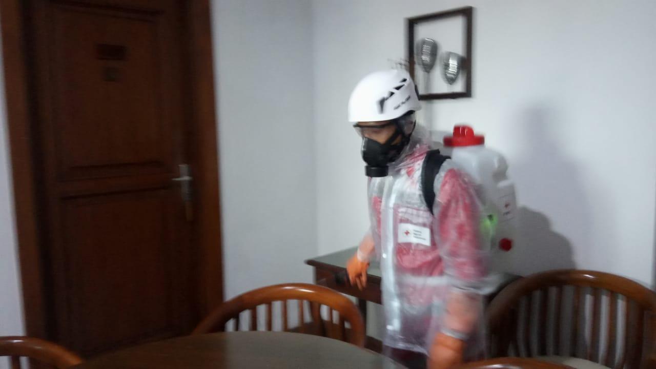 Antisipasi Virus Corona, BPBD Banjar Semprotkan Cairan Disinfektan di Hotel