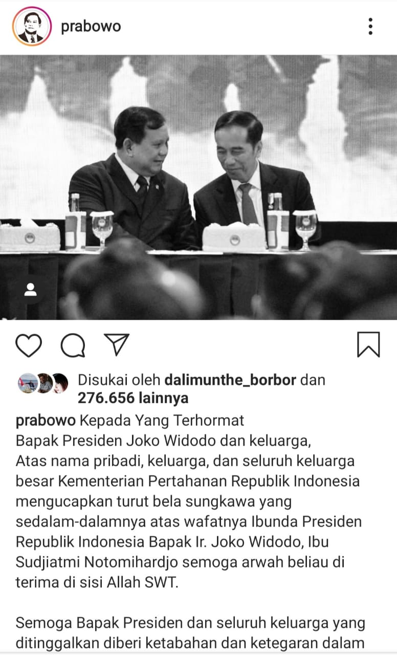 Ibunda Presiden Jokowi Meninggal Dunia, Sakit Selama Empat Tahun