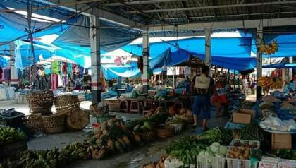 Virus Corona, Disperindag Labuhanbatu Semprot Disinfektan di Beberapa Pasar