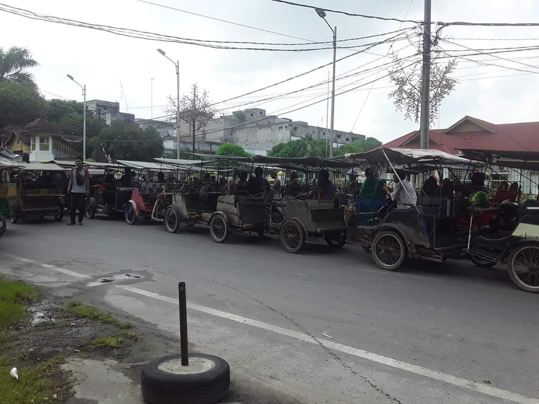 Viralnya Tukang Becak Dikumpul di Rumah Dinas Walikota Tanjung Balai, Di Tengah Pandemi Corona