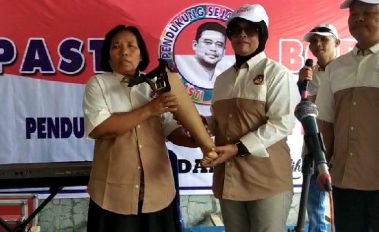 Pilkada Medan 2020, Relawan PASTI Berikan Kaki Palsu