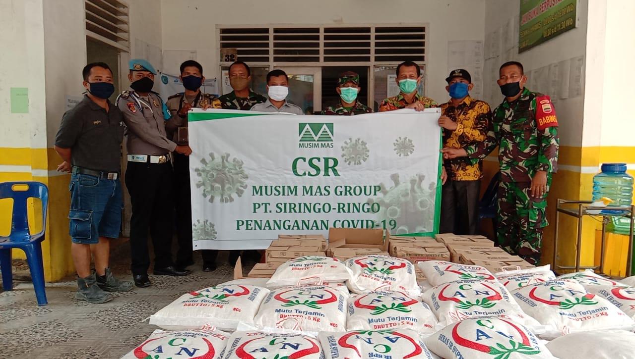 CSR Musim Mas Group PT Siringo-Ringo Peduli Covid-19, Serahkan Bantuan SembakoMelalui Dandim