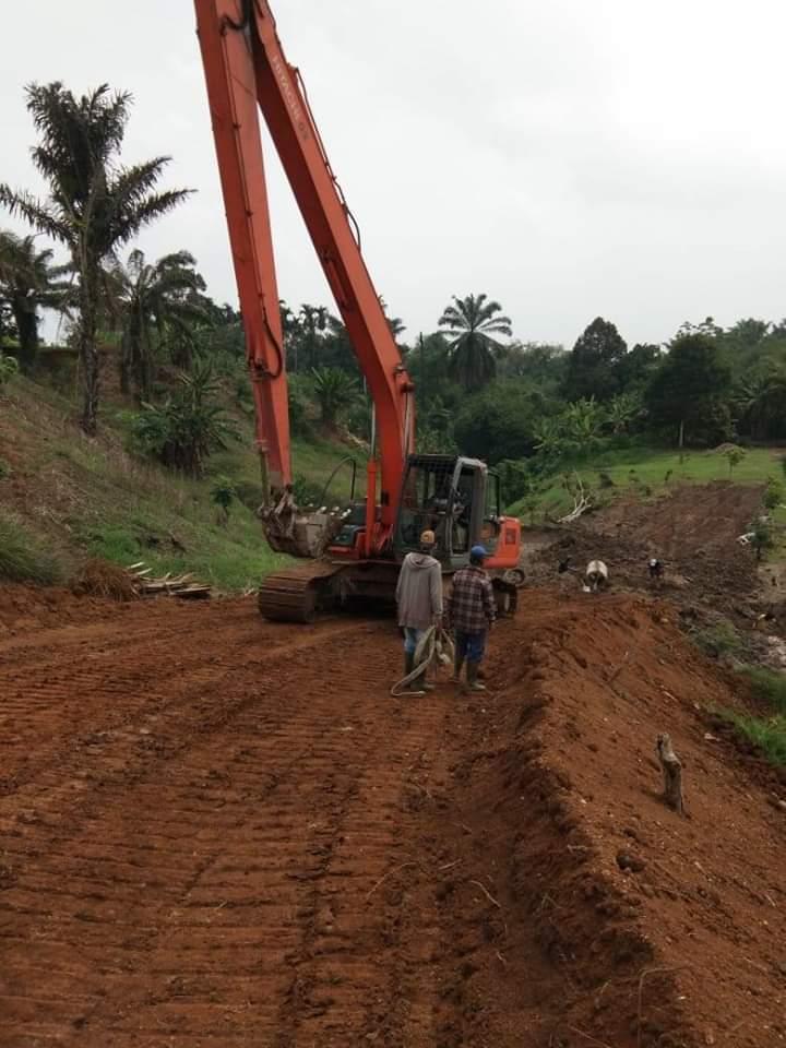 Akses Jalan Lahan Pemakaman Kasus Covid-19 PTU Simalingkar B Dikebut