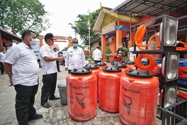 Akhyar Pantau Ketersediaan Cairan Disinfektan di Kantor BPBD Kota Medan