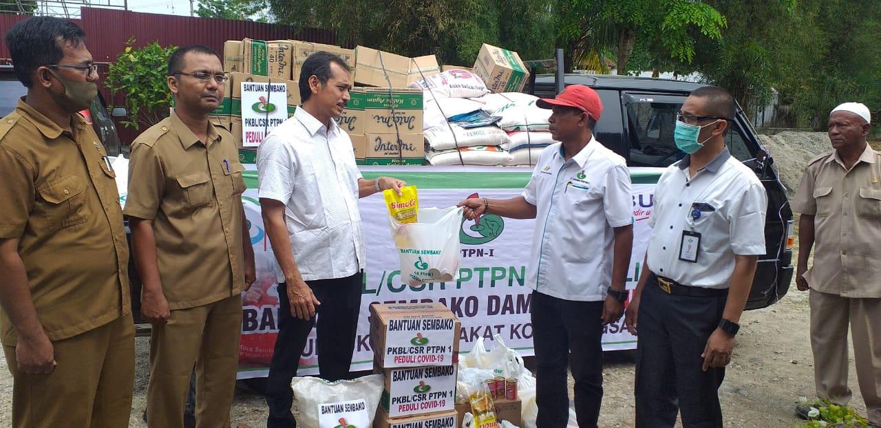 Melalui Dinsos Langsa, PTPN I Serahkan Bantuan Sembako untuk Masyarakat Terdampak Covid-19