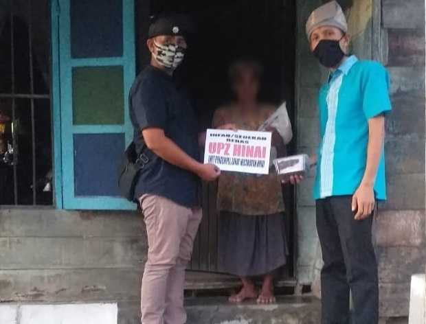 Pandemi Corona, MBN Langkat Bersama UPZ Hinai Salurkan Bantuan Beras dan Kurma