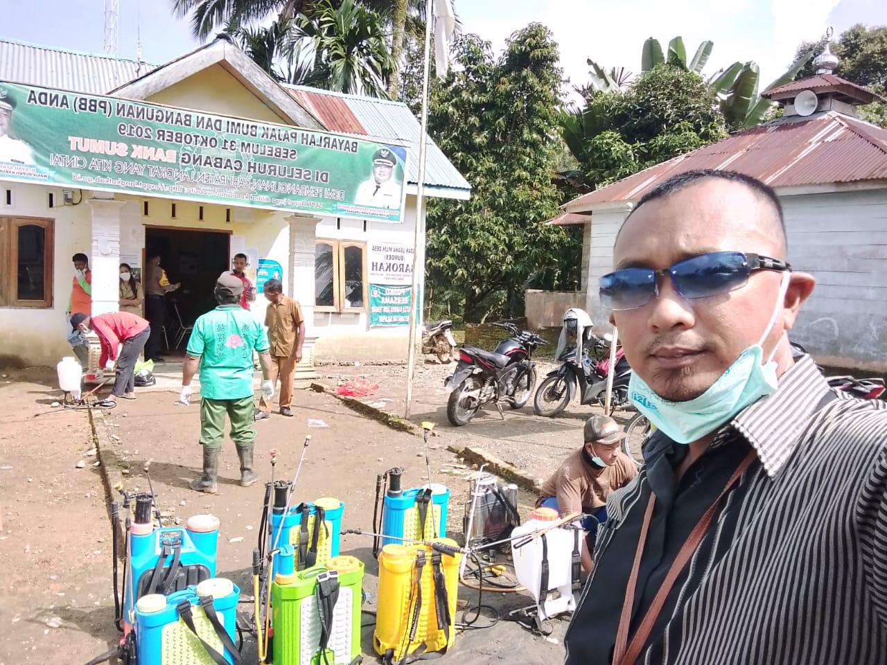 Desa Adin Tengah Langkat Sigap Dalam Menghadapi Penyebaran Virus Corona