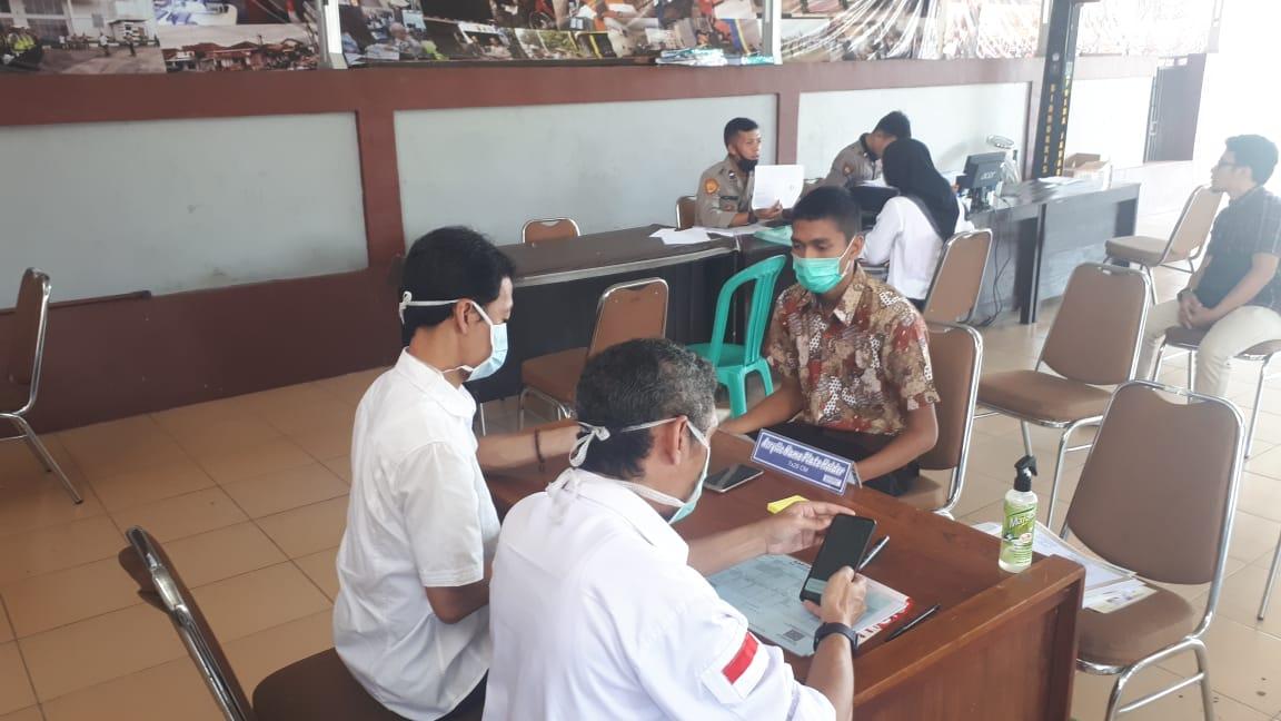 Mendaftar Calon Anggota Polri, Wajib Pakai Masker dan Cuci Tangan