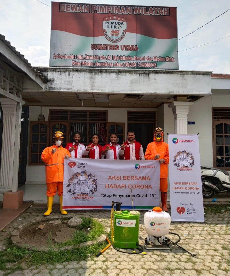 Pelindo 1 Bersama Pemuda Lira Kota Medan Lawan Corona