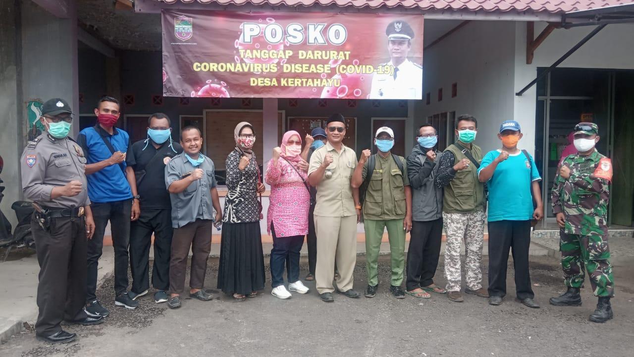Pemerintah Desa Kertahayu Ciamis, Himbau Warga Pakai Masker