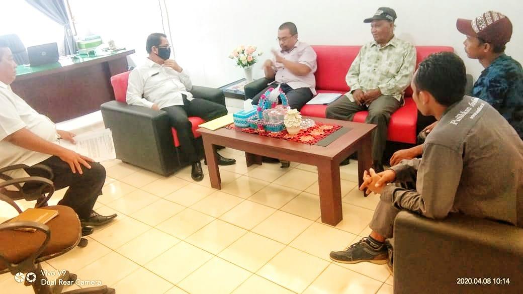 Pengurus Kelompok Tani Mangrove Jaya, Beraudiensi dengan UPT KPH Wil I Stabat