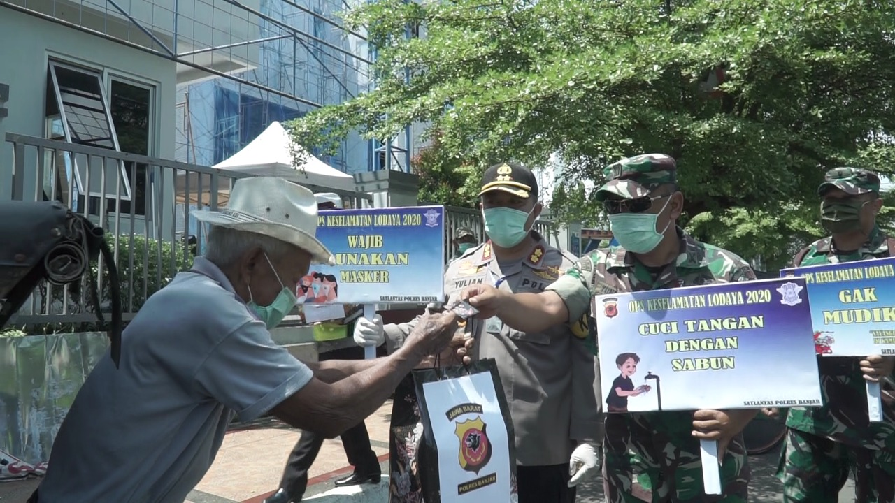 Ops Keselamatan Lodaya 2020, Polres Banjar Himbau Penggunaan Masker saat Beraktivitas