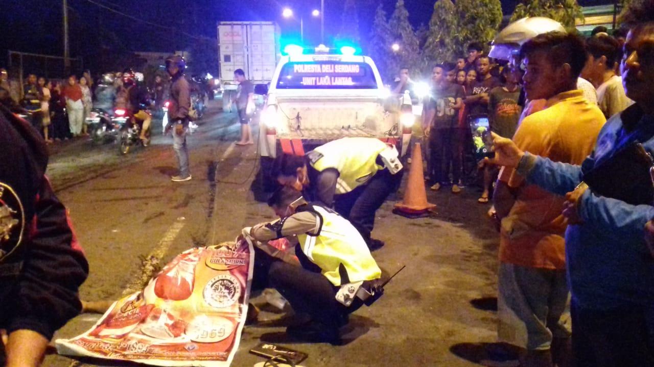 Warga Tanjung Morawa Jadi Korban Tabrak Lari, Polisi Olah TKP
