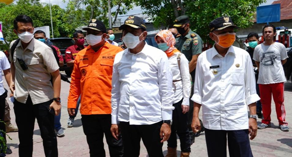 Gubernur Sumut, Serahkan Bantuan APD ke Asahan dan Tanjung Balai