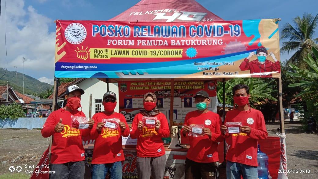 Cegah Corona, Forum Pemuda Batukurung Dirikan Posko Relawan Covid-19
