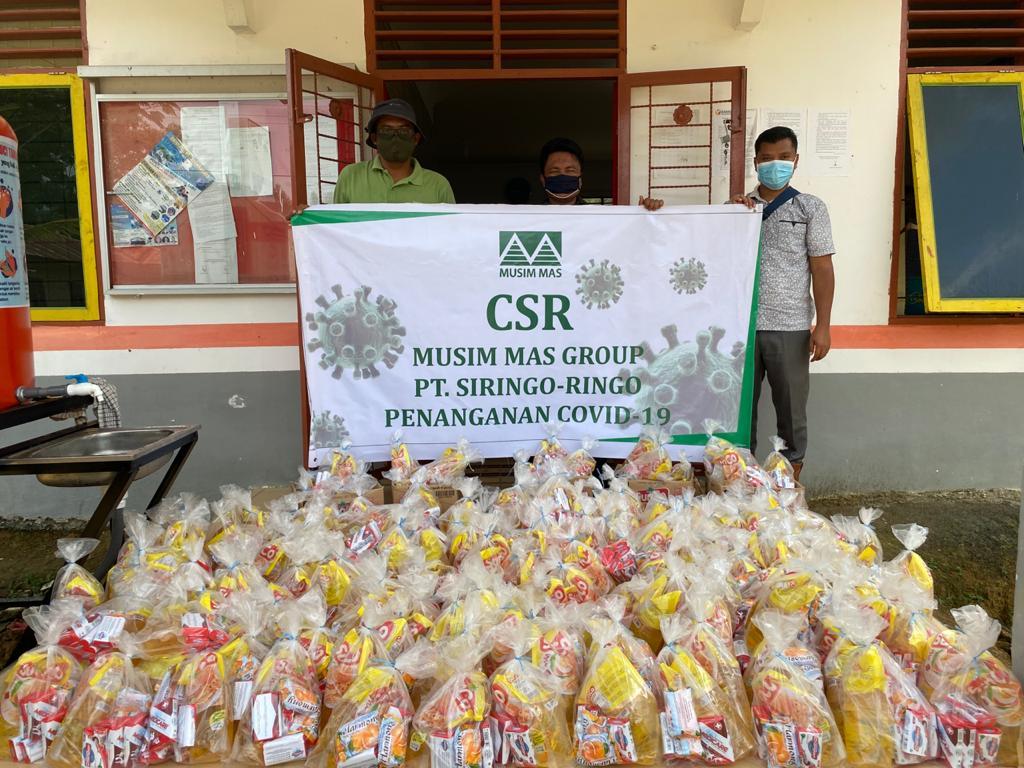 PT Siringo-ringo Rantauprapat, Berikan 500 Paket Produk Musim Mas kepada Masyarakat