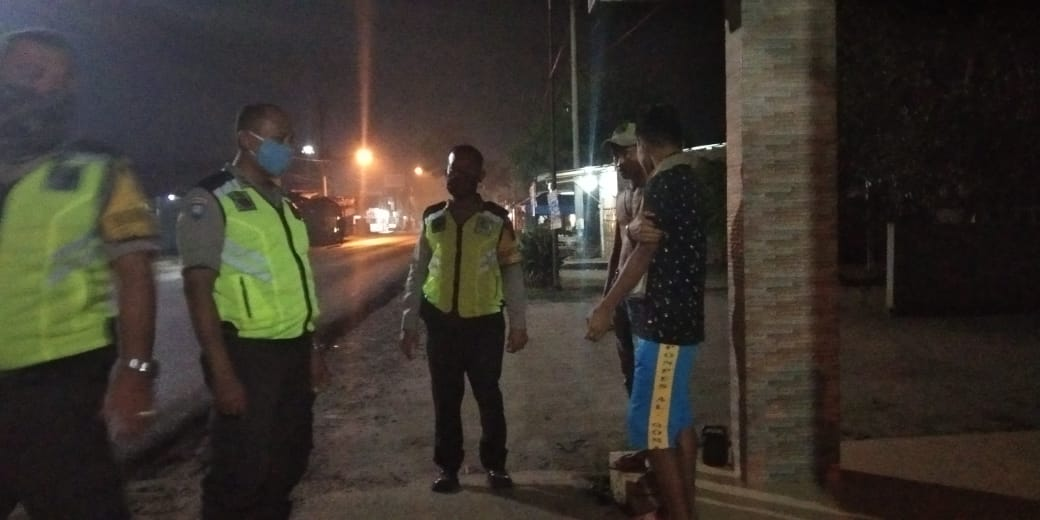Antisipasi Covid-19 di Bulan Ramadhan, Polsek Pagar Merbau Laksanakan Patroli Subuh
