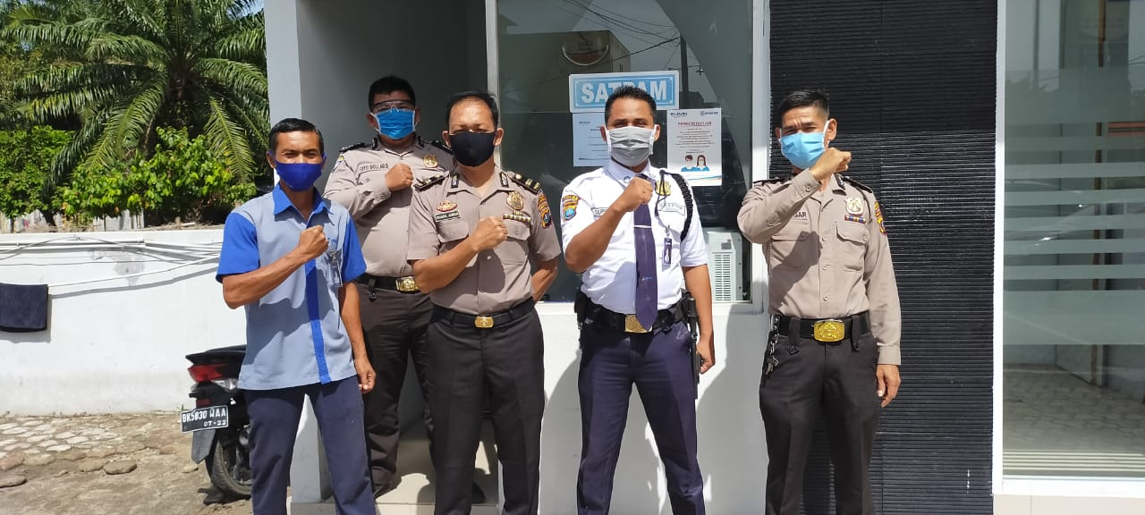 Polresta Deli Serdang, Tanpa Henti Sosialisasikan Pencegahan Covid-19 di BRI
