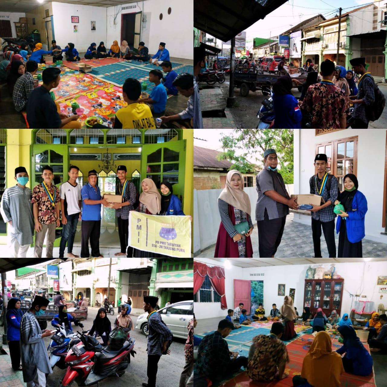 Aksi Sosial Berkah Cinta Ramadhan, PR PMII Tarbiyah STAI JM Bagi-Bagi Takjil dan Buka Bersama