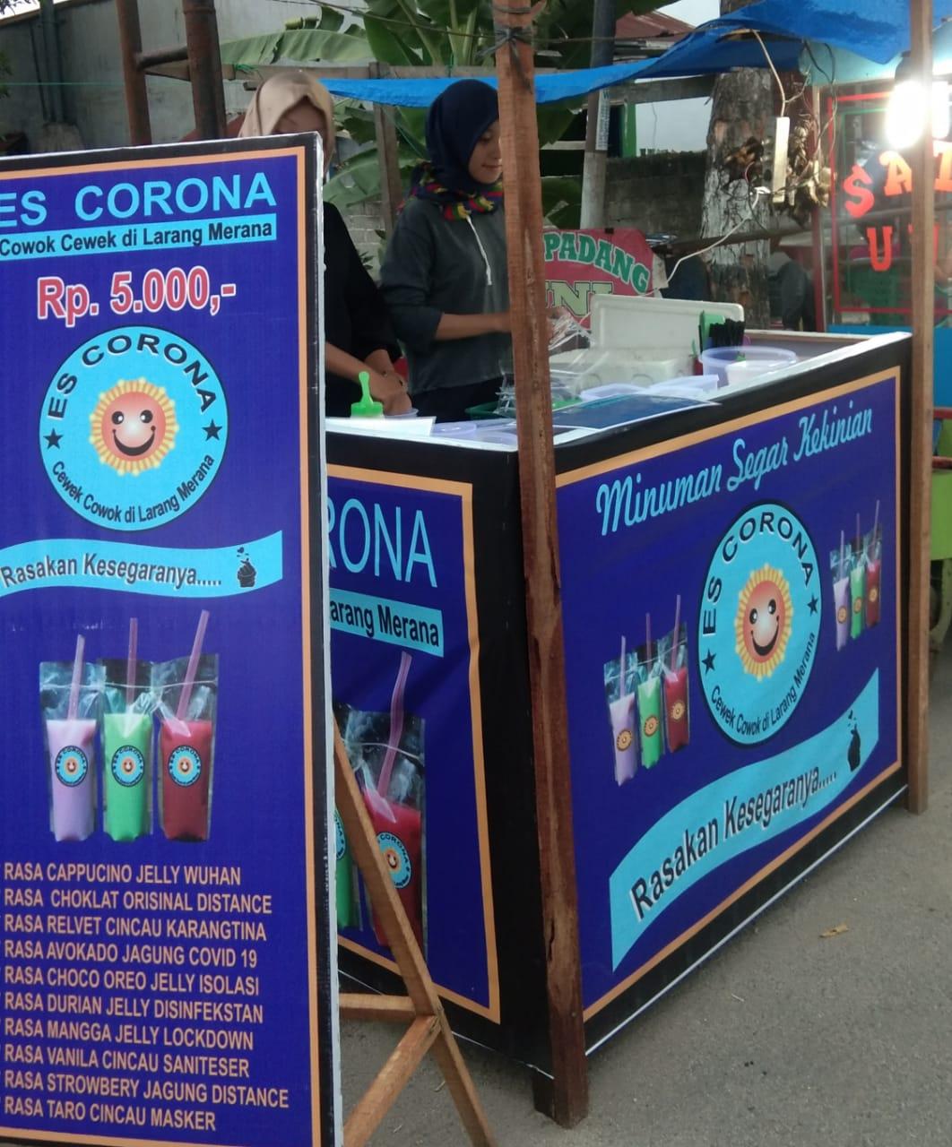 Cewek Cantik, Penjual Es Corona