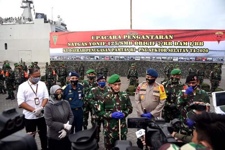 Pasukan Yonif 125 Menuju Merauke, Berharap Tugas Berat TNI Jadi Inspirasi