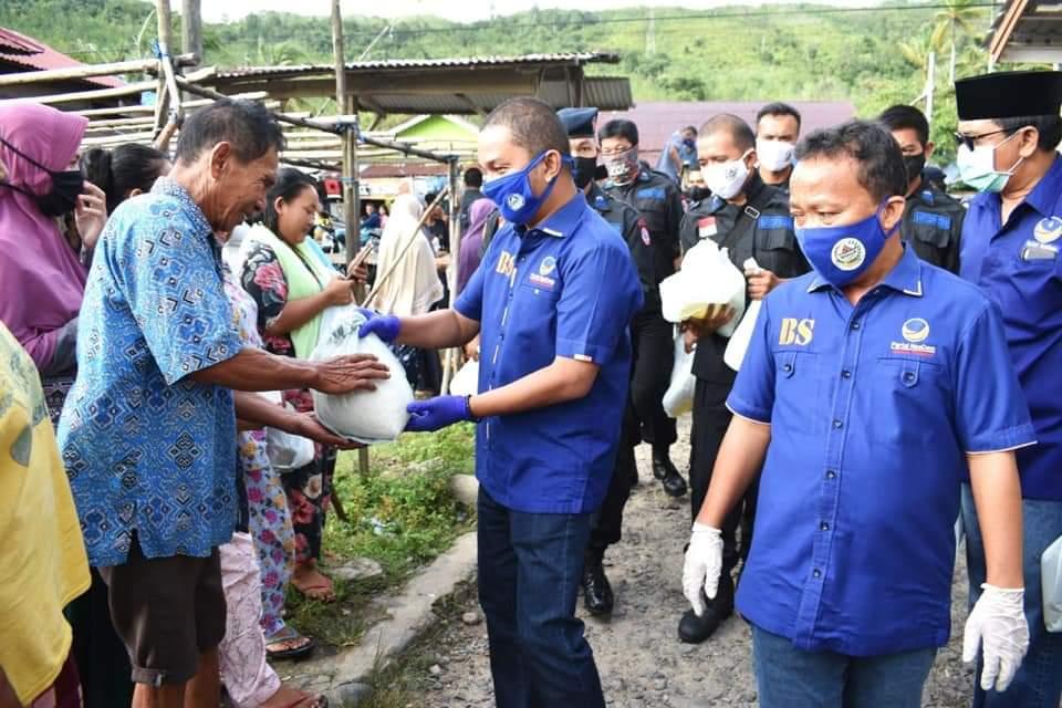 Nasdem Tapteng Konsisten Hadir Untuk Rakyat, Bagikan 3.000 Paket Sembako