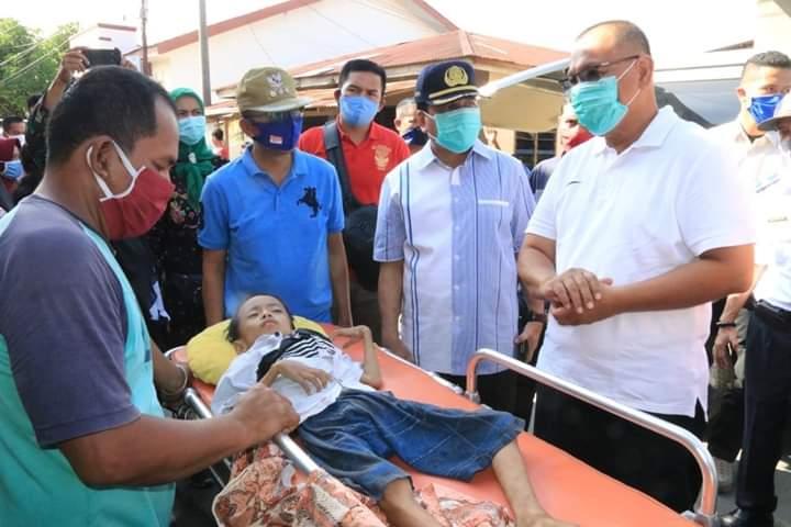 Akhyar Kunjungi Anak Kurang Gizi, Pastikan Pelayanan Kesehatan Berjalan Baik